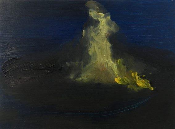 Bonfire, oil on board,   265 x 195 mm, 2014