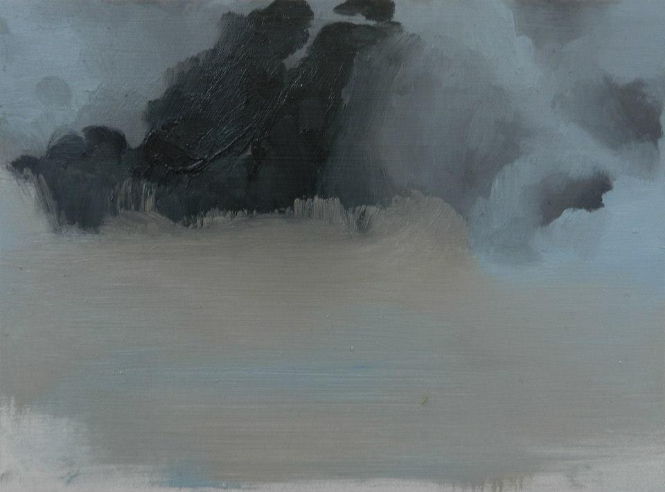 Blue Skies,  oil on board,265 x 195 mm, 2014,
