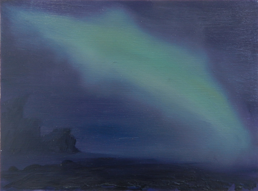 Northern Lights,  oil on board,  265 x 195 mm , 2014