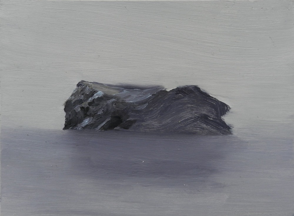 Beached,  oil on board, 265 x 195 mm
