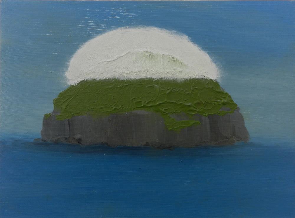 Cloud Island, oil on board, 265 x 195 mm, 2014