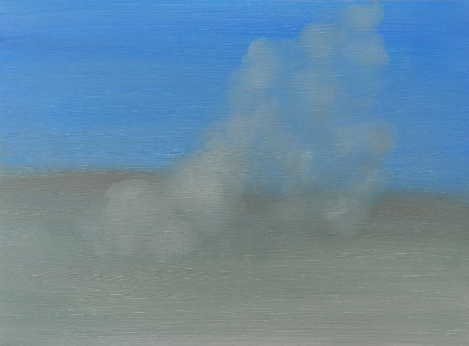 Dust Storm,  oil on board,265 x 195 mm, 2014