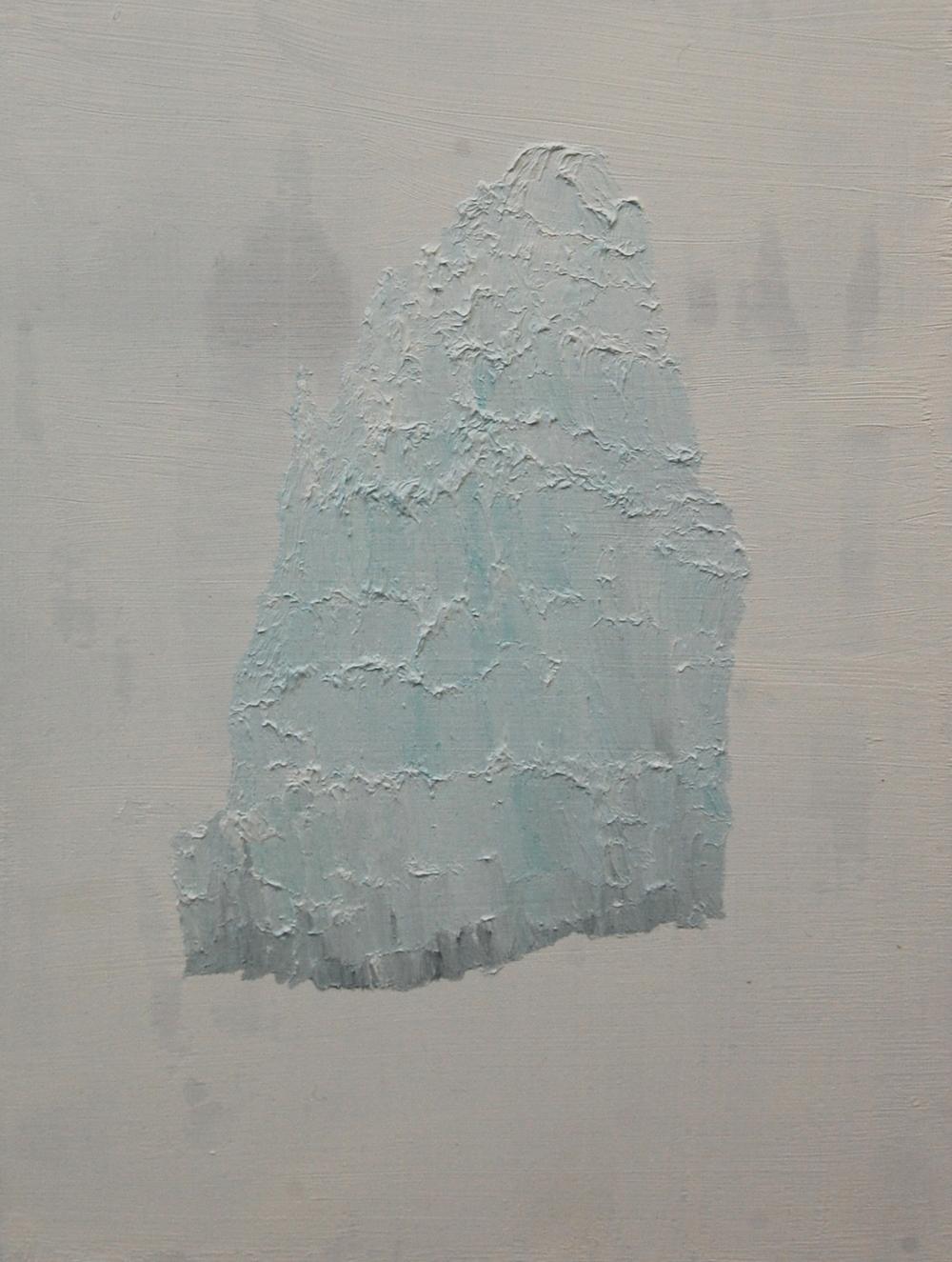 Iceberg , oil on board, 2015