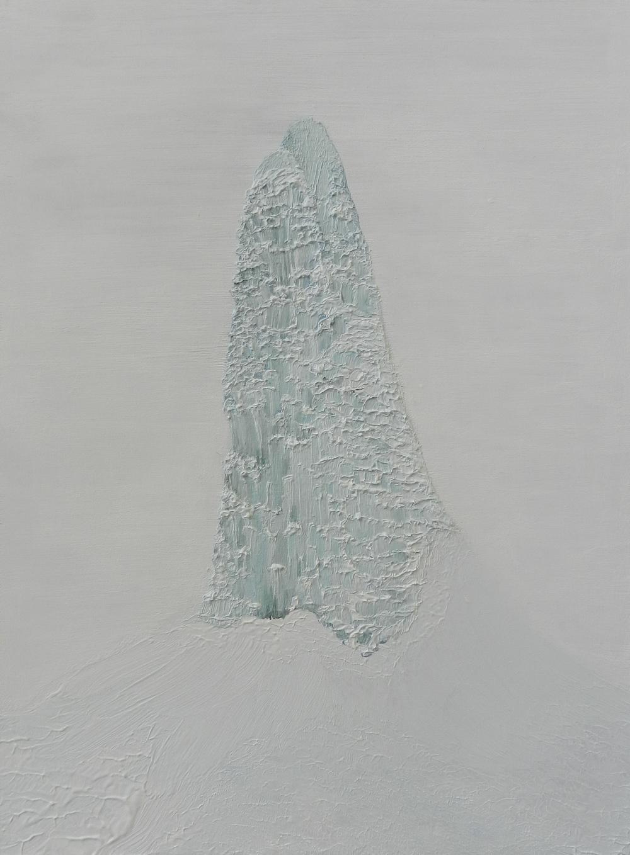 Frozen Geyser III,  oil on board, 2015