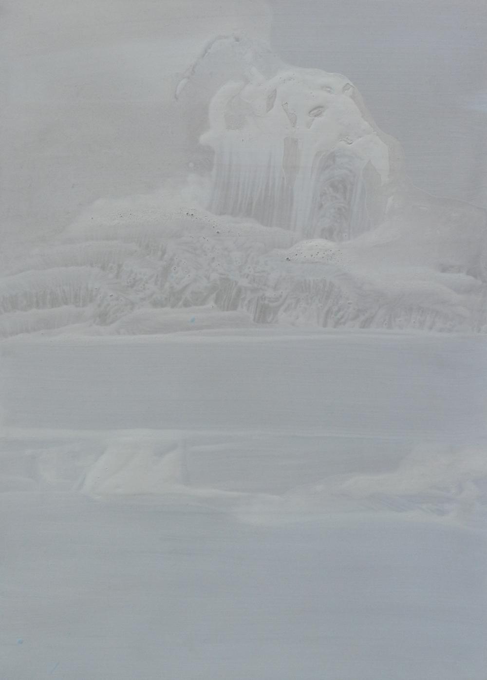 Powder Terraces, acrylic on board,297 x 420 mm, 2015