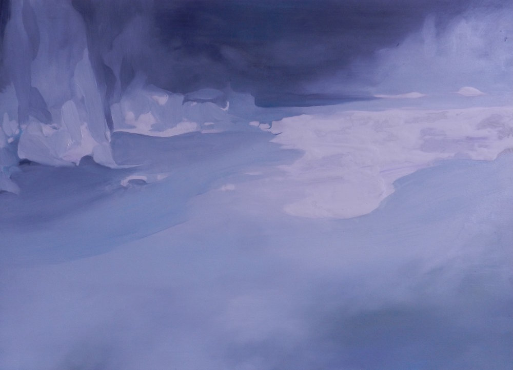 Cotton Mouth , oil and acrylic on board, 297 x 420mm, 2016