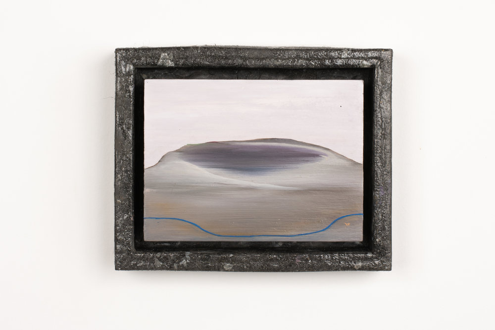 Alley-oop 5,   oil on board, steelo and resin frame, 205 x 255mm, 2019  Photo credit: Mitchell Bright