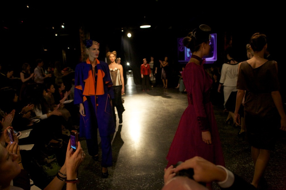 On the runway at Zeitgiest Autumn Winter 2013fashion experience at Revolt Melbourne