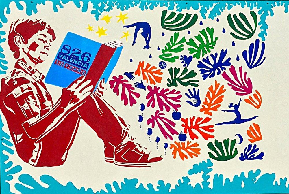 826 valencia anthony carmona On 826 valencia mural