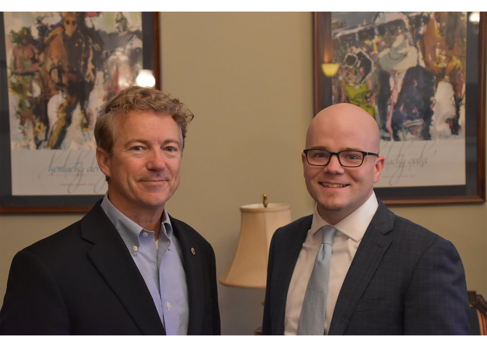 Senator Rand Paul with Fellow James Gimbi. Photo by Andrew Westberry.