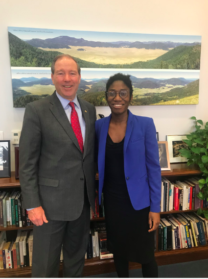 Senator Tom Udall and 2018 Fellow Bukky Adebayo