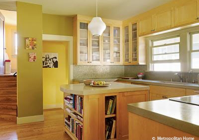 The middle of the bungalow was opened up to create a bright, modern kitchen.