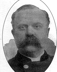 RUFUS BARTLETT HILLIARD, 1849 – 1912. Born in Pembroke, Maine, Hilliard was the son of David and Elizabeth (Wilson) Hilliard. In 1879, he was hired by the Fall River Police Department, where he received periodic promotions until, in 1886, he was named city marshall. In 1888, he married Miss Nellie Smith Clark of Fall River. Hilliard provided extensive testimony at both Lizzie's preliminary hearing and trial. He was also instrumental the following year in resolving the Bertha Manchester murder case. Under his command, the Fall River Police Department grew to be the third largest in the Commonwealth of Massachusetts. He resided in Fall River until his death in 1912