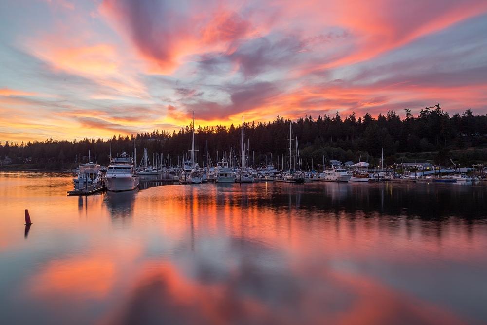 Sunset Marina Landscape