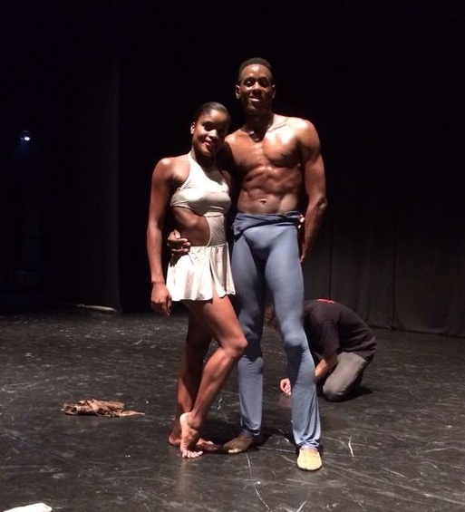 "Darius, with partner Ingrid Silva, after their debut together in ""Return"" during DTH's International tour in Innsbruck, Austria"