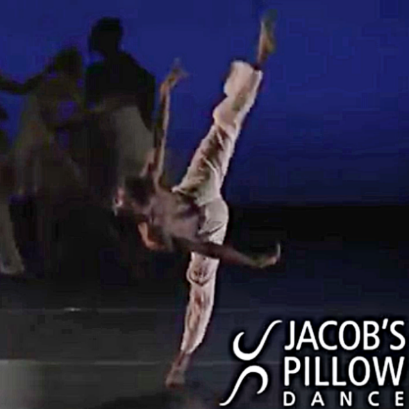"Darius dancing the principal role of Tanya Wideman Davis and Thaddues Davis's ""pass-carry-forawrd"""