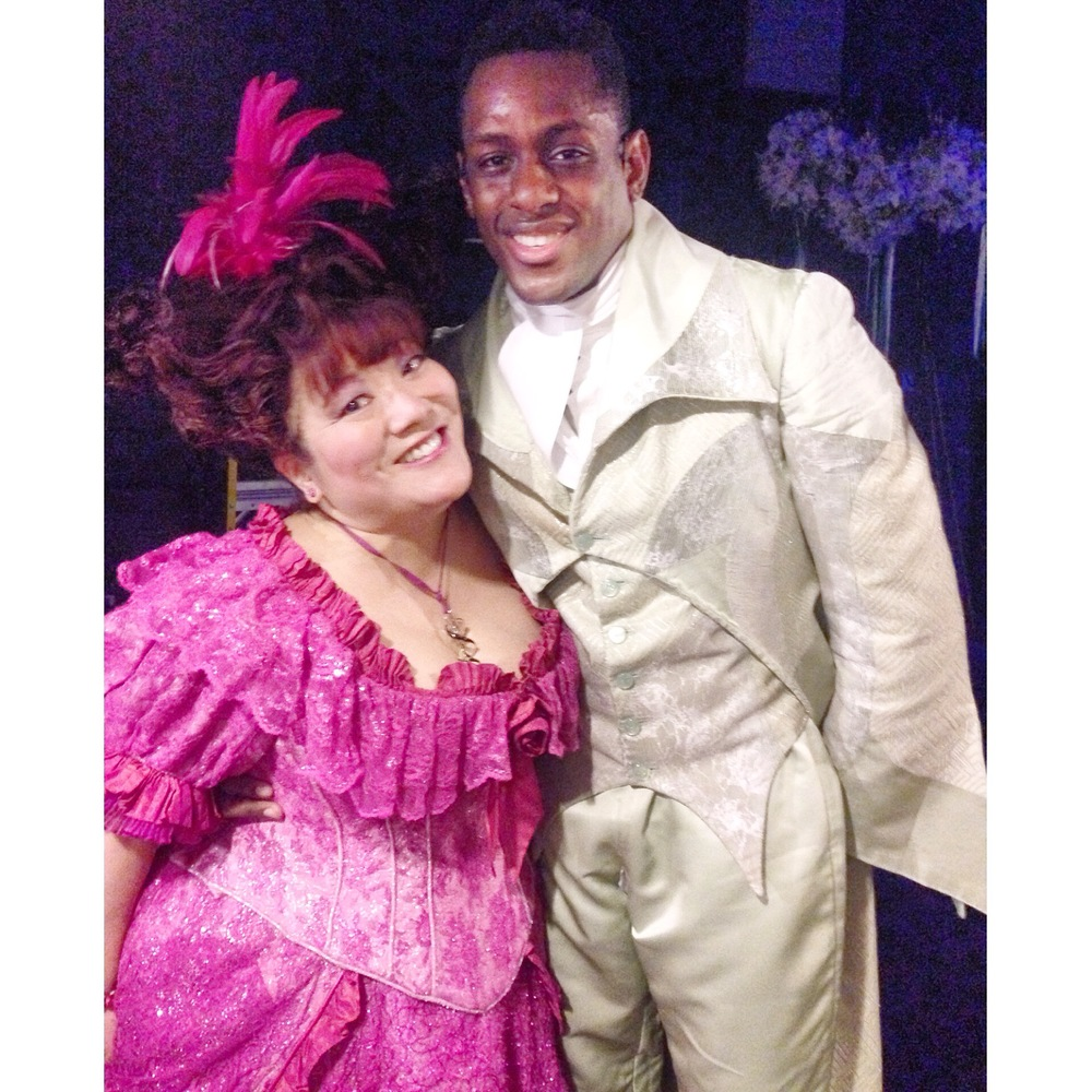 Darius with Broadway vet, Ann Harada
