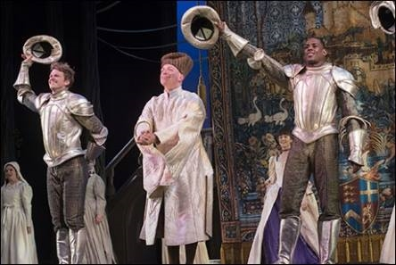 "Darius and the male ensemble of ""Cinderella"""
