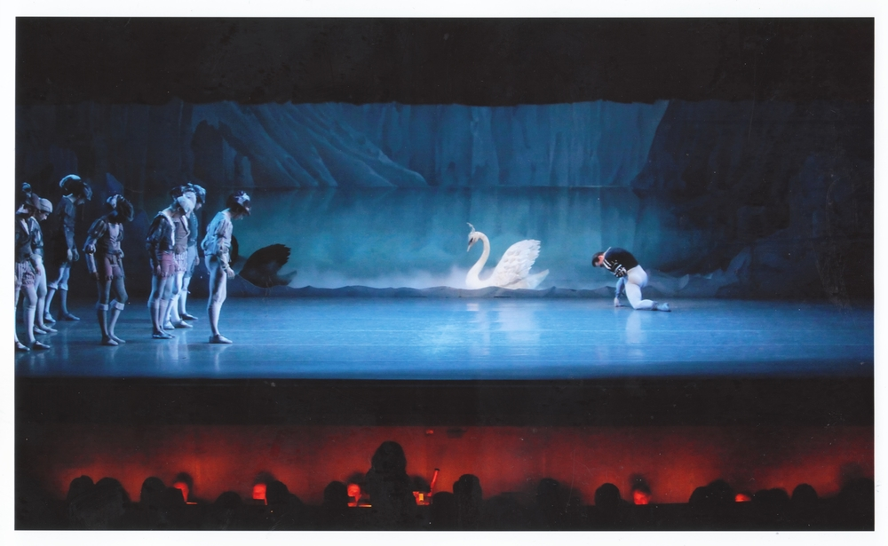 "Darius (left) in ""Swan Lake""."