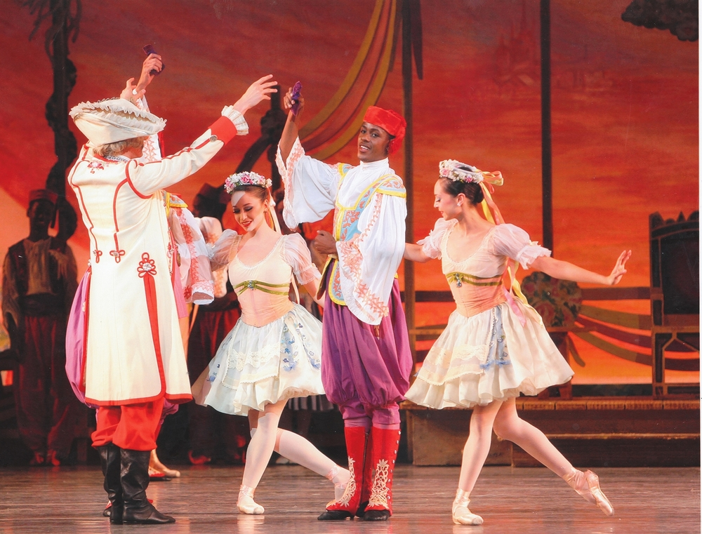 "Darius (center) in ""Coppelia""."