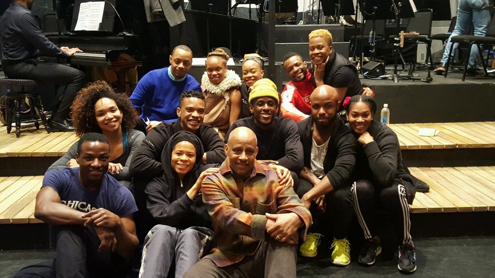 Darius with the company, choreographer Camille Brown & director Ruben Santiago-Hudson