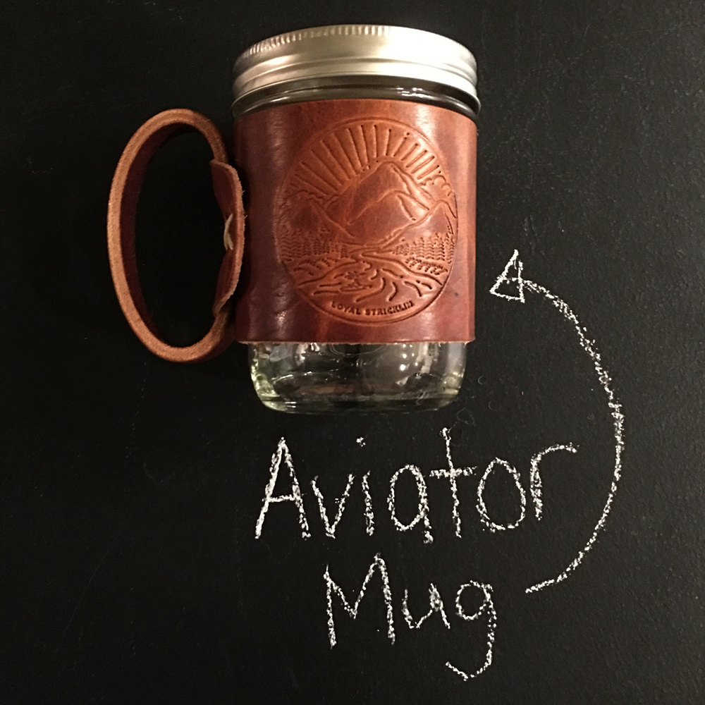 Aviator mug by Loyal Stricklin! Pretty much the coolest coffee mug there is. This is sure to give you lots of coffee street cred. Valued at $29!