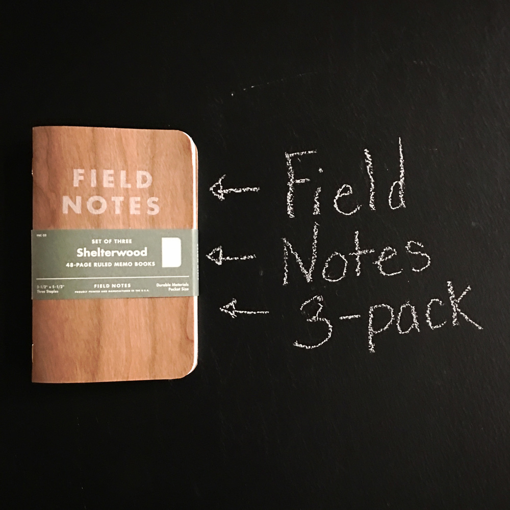 Three of the coolest little pocket notebooks money can buy. And they have a wooden cover!