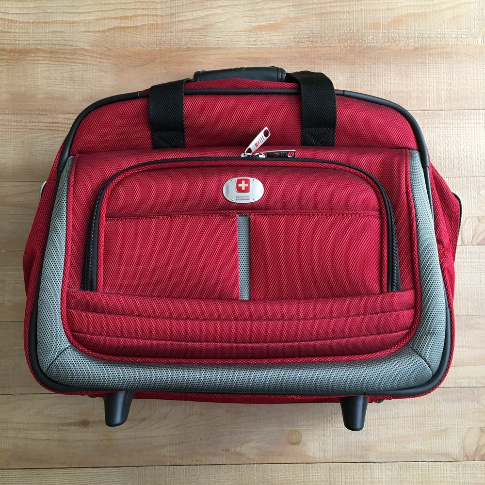 SwissGear Rolling Tote in Red. $90 value