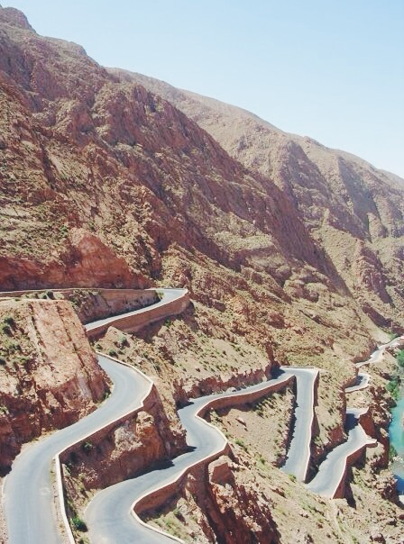 Barfed on this road in the Atlas Mountains in Morocco.
