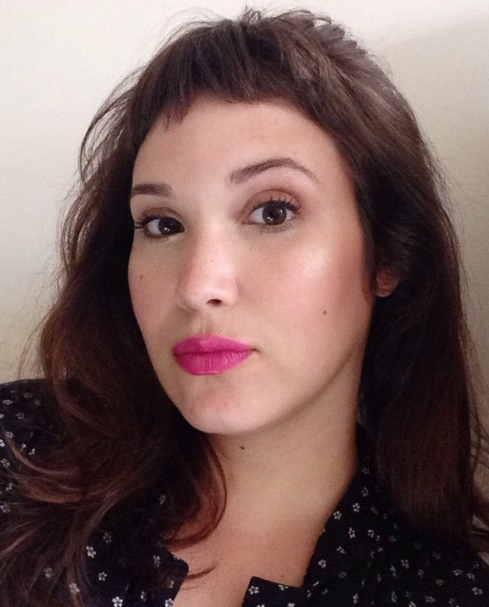 Sweaty and serious Sunday selfie. Make Up Forever 36 Satin Fuchsia.