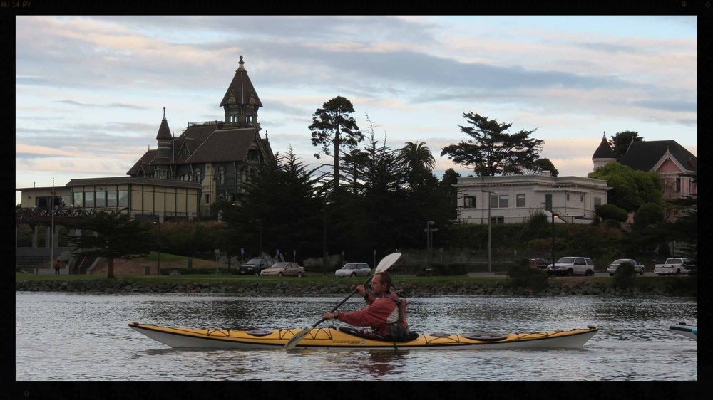 Kayaking past the Carson Mansion