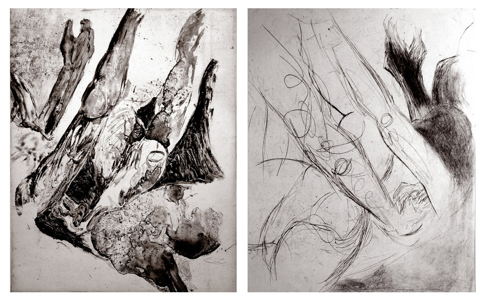 More than me - SARAH SIPLINGA new series of drypoint prints and photogravures