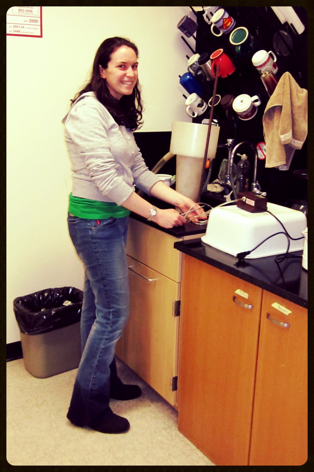 Maureen Isaacs, expert in root elutriation (Feb 2012).