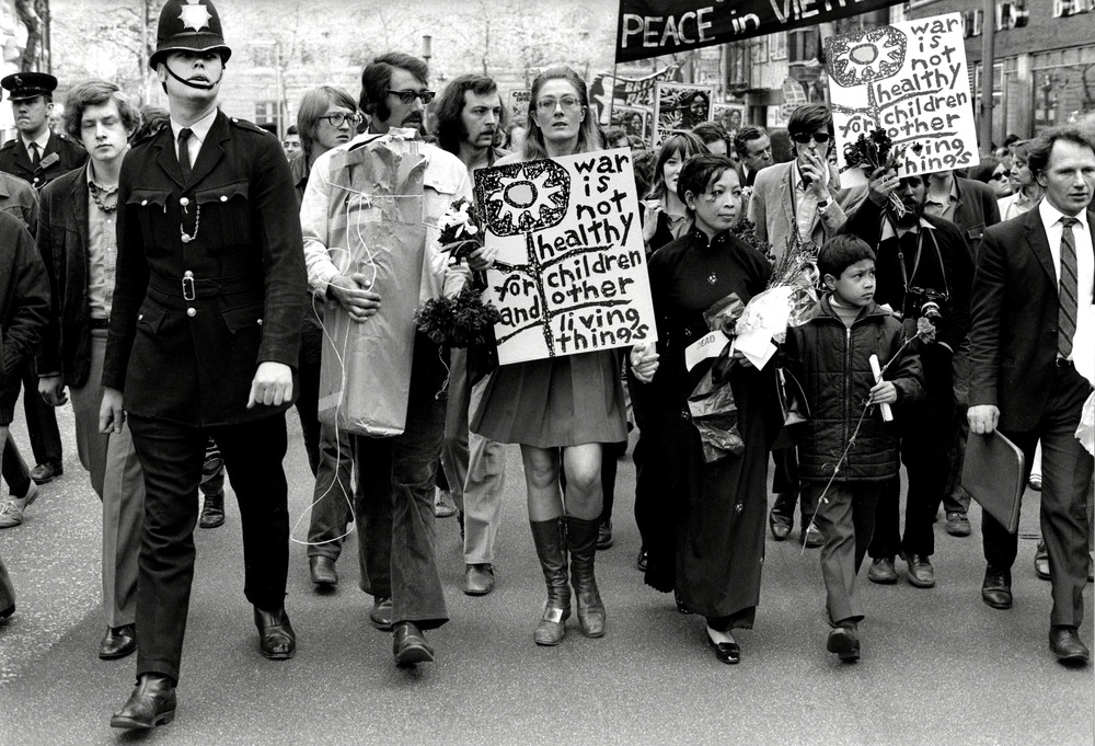Peace Protest 1968 with actress Vanessa Redgrave