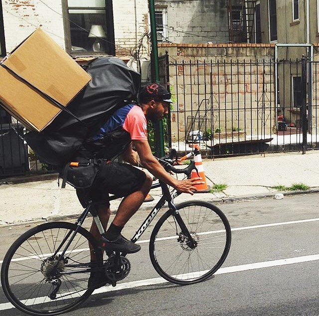 Nothing stops us from delivering. Not a big box nor #nyc summer heat!
