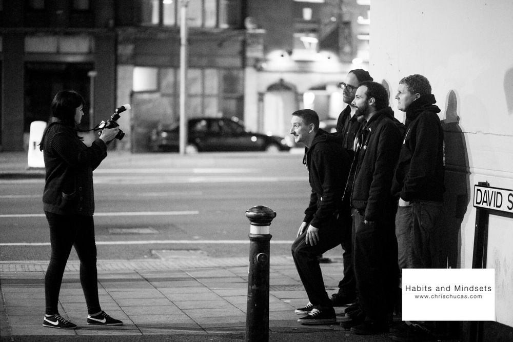 LeeLee Photographing the guys after the show.check out her blog here