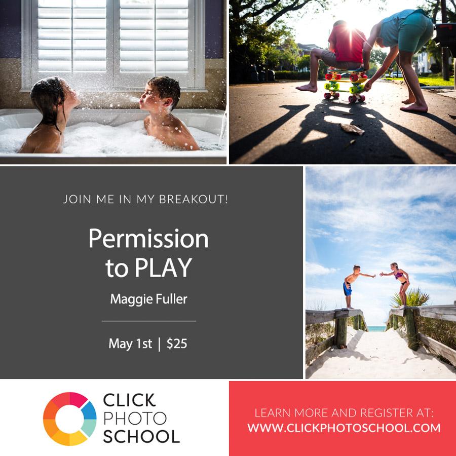 permission to play clickin mom class