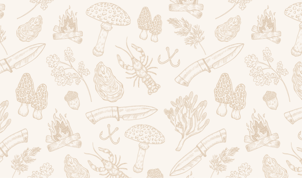 Hand-drawn pattern created for front of business card.