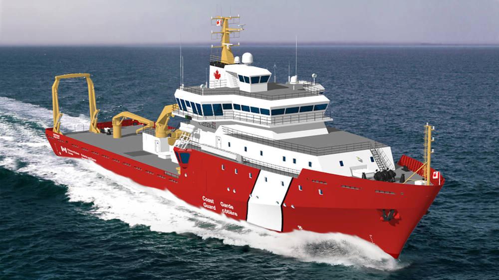 CCG Oceanographic Offshore Science Vessel