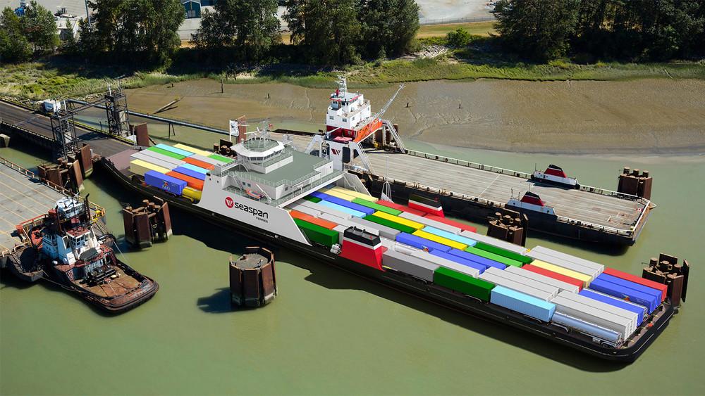 Trailer Ferry Docked