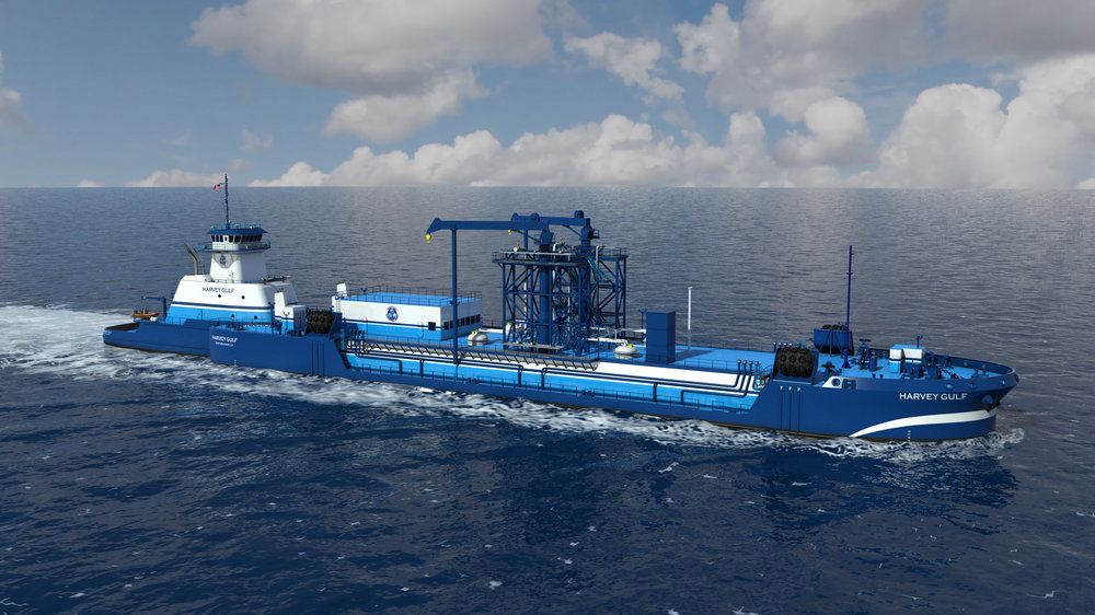 ATB/articulated tug barge vessel for bunkering LNG