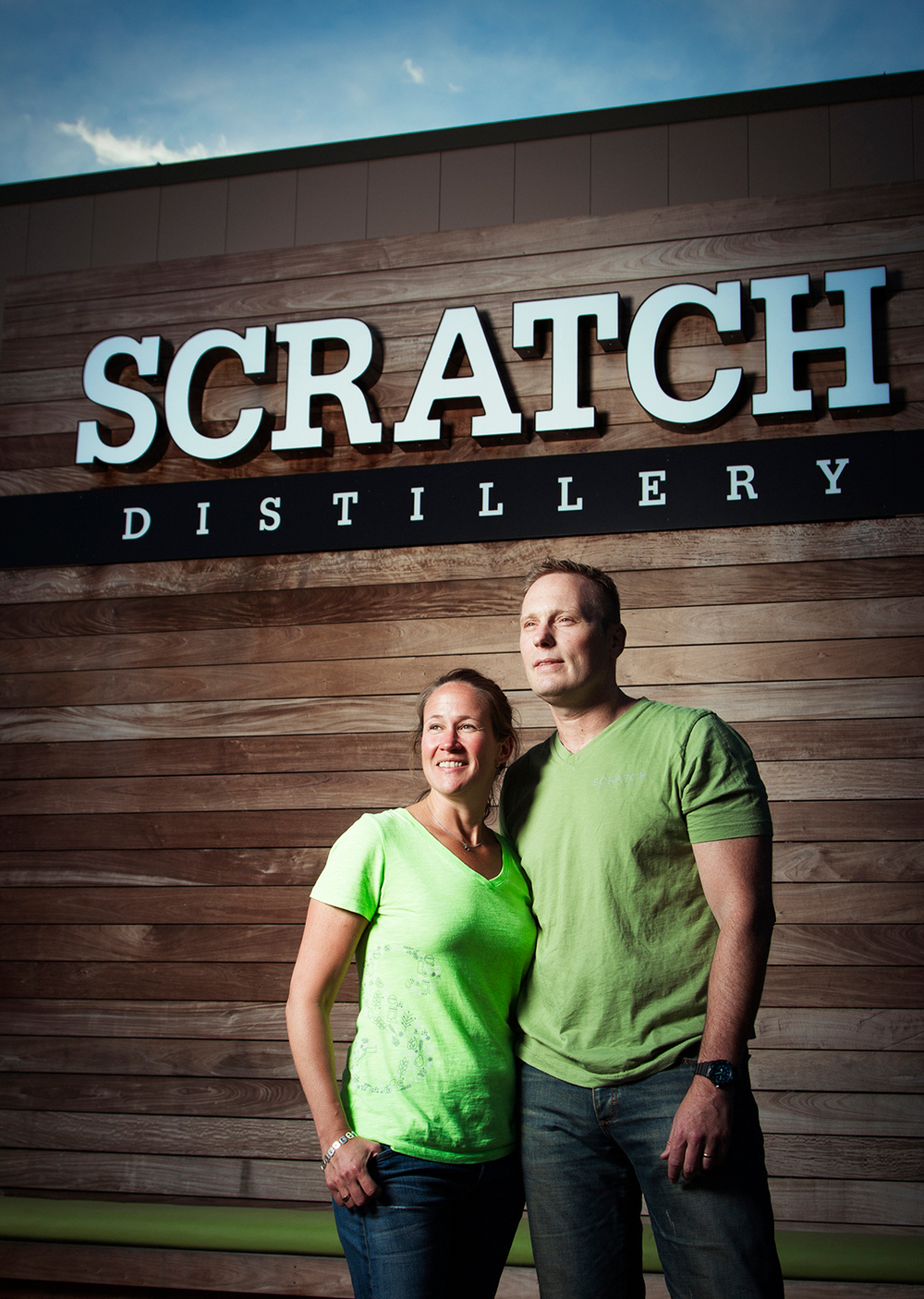 Scratch Distillery owners Kim and Bryan Karrick