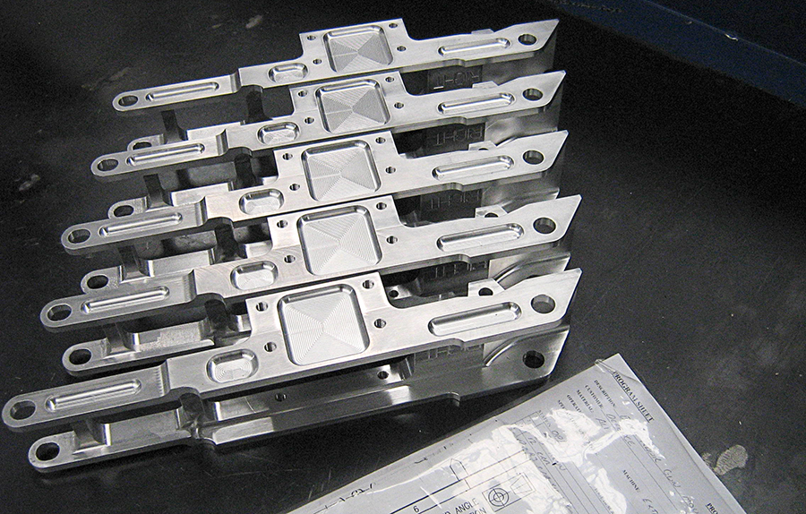 Billet CNC Helicoptor Parts in Aerospace-grade Aluminium made by C&C