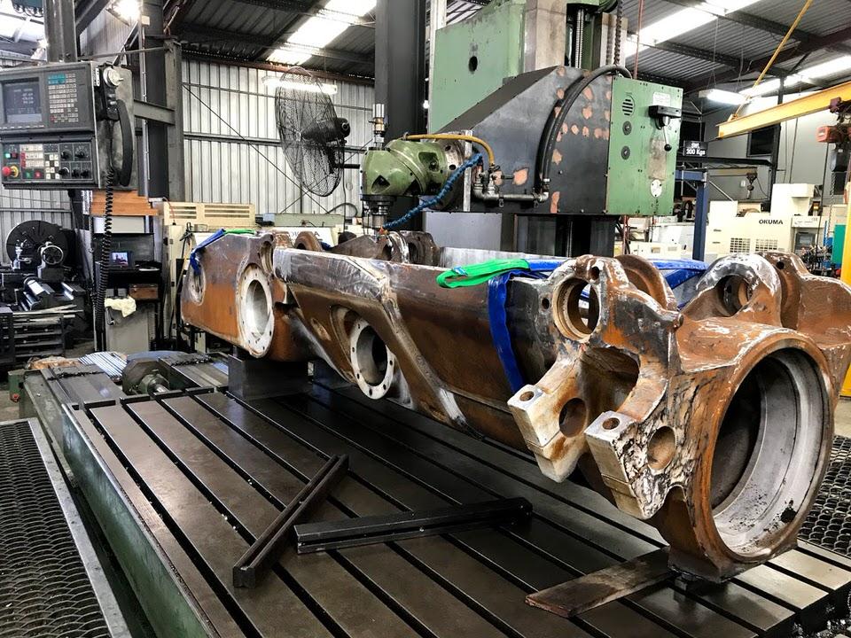 Track Frame machining