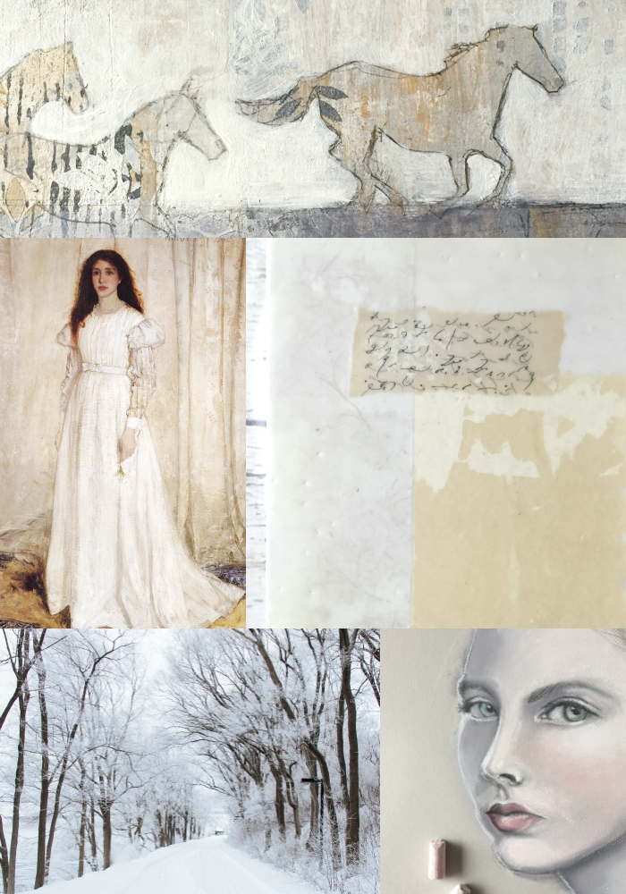 Shades of White collage