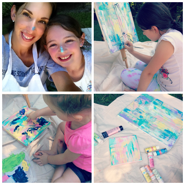 girls and me painting