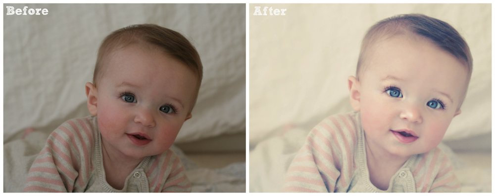 before after baby claire with text