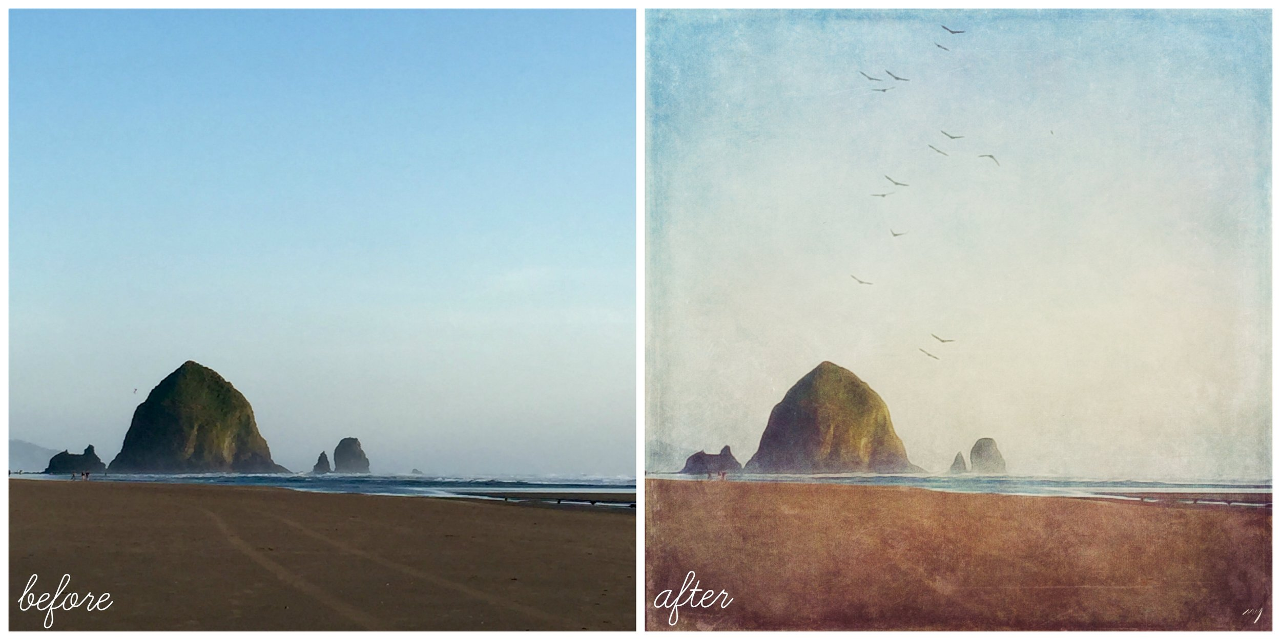 before after camera craft landscape