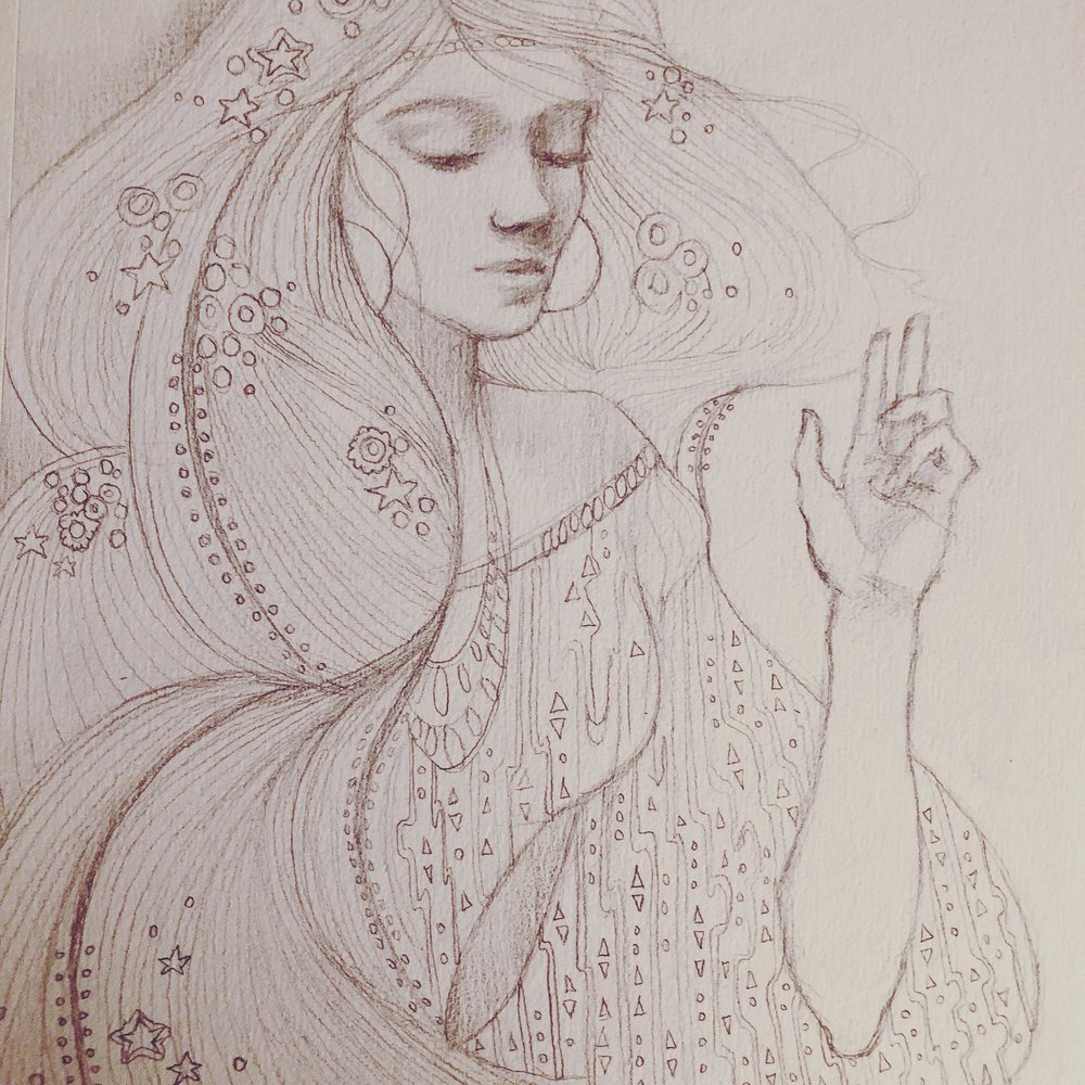 Klimt inspired sketch