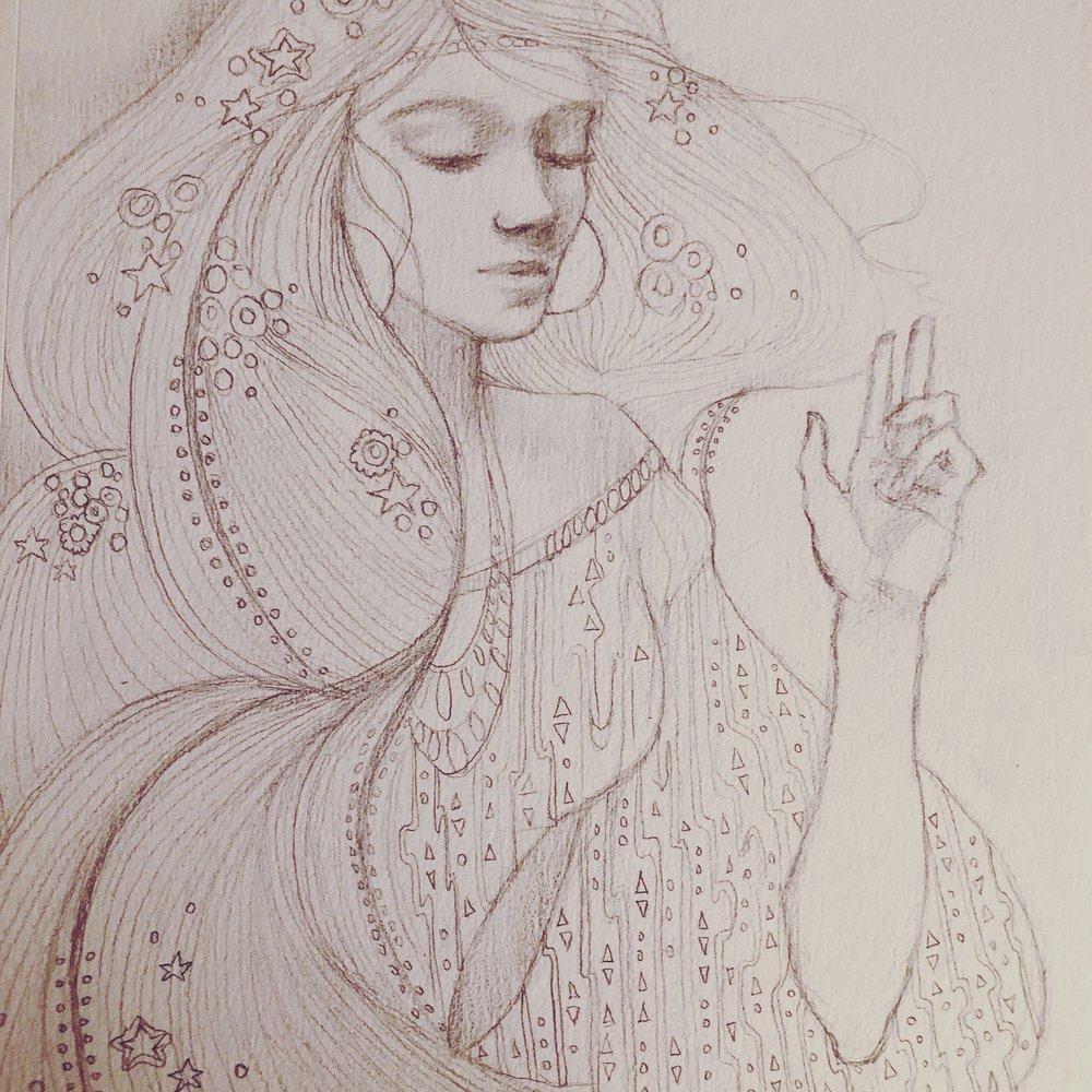 Klimt inspired sketch